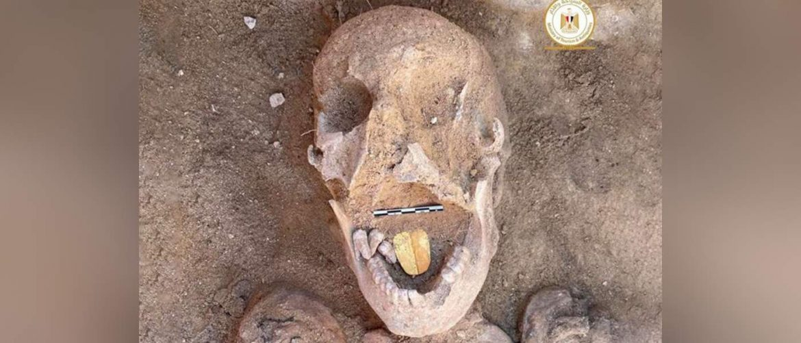 Archaeologists in Egypt Discover Mummy With Gold Tongue